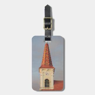 Sibiu church clock tower tag for bags