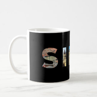sibiu city romania landmark inside text symbol tra coffee mug