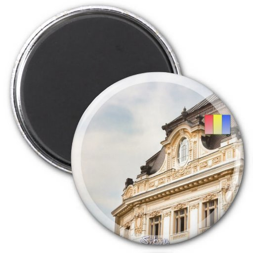 Sibiu cityhall 2 inch round magnet