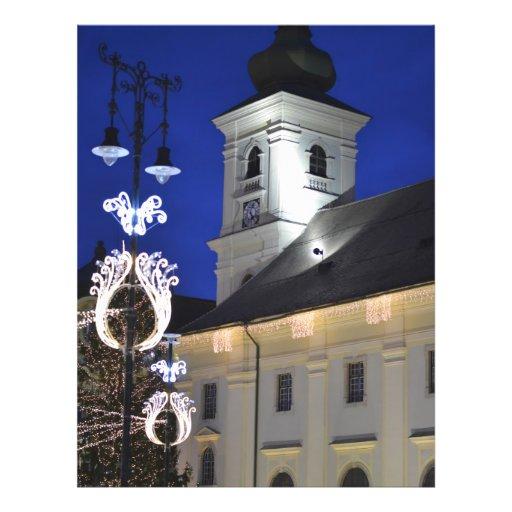 Sibiu en la noche flyer personalizado