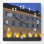 Sibiu en la noche relojes