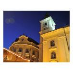 Sibiu en la noche tarjetas publicitarias