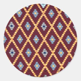 sibiu evangelical church roof texture classic round sticker