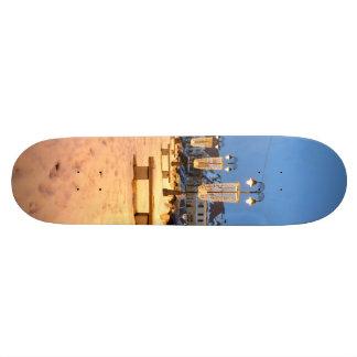 Sibiu lights skateboard deck