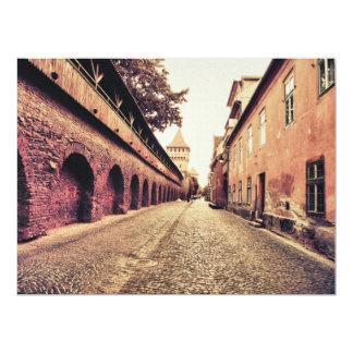 Sibiu medieval architecture personalized invitations
