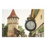 Sibiu old clock photo print