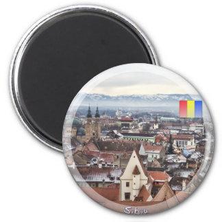 Sibiu panorama fridge magnets