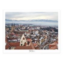 Sibiu panorama postcard