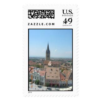 Sibiu Panoramic View Postage