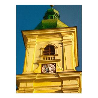 "Sibiu tower 6.5"" x 8.75"" invitation card"