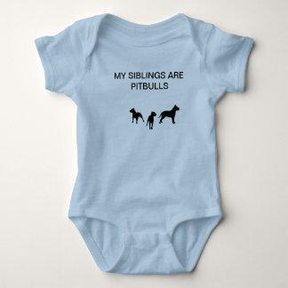 Sibling pit bulls baby bodysuit