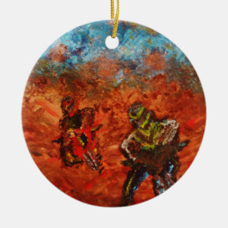 """""""Sibling Rivalry"""" Christmas Tree Ornament"""