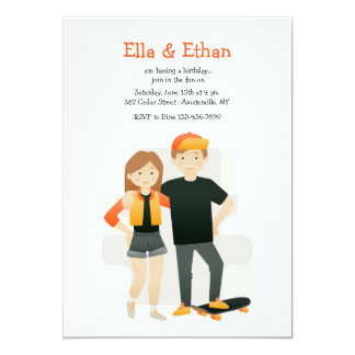 Siblings Birthday Party Invitations