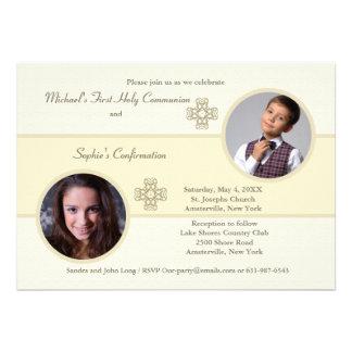 Siblings Cameo Photo Invitation