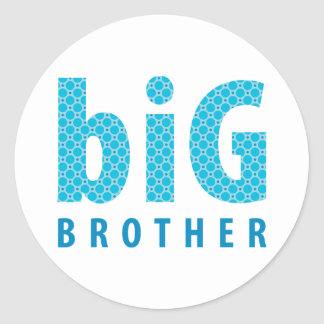 SIBLINGS COLLECTION - big brother {blue} Classic Round Sticker