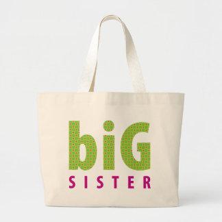 SIBLINGS COLLECTION - big sister {lime} Jumbo Tote Bag