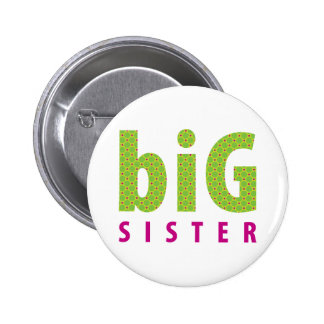 SIBLINGS COLLECTION - big sister {lime} Pinback Button