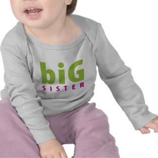 SIBLINGS COLLECTION - big sister {lime} T-shirts