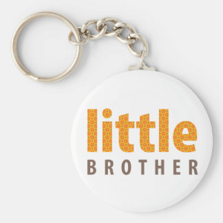SIBLINGS COLLECTION - little brother {orange} Key Chains