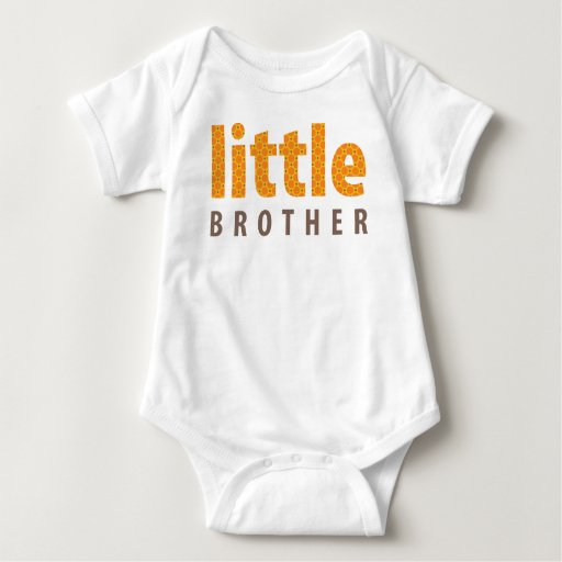 SIBLINGS COLLECTION - little brother {orange} T Shirts