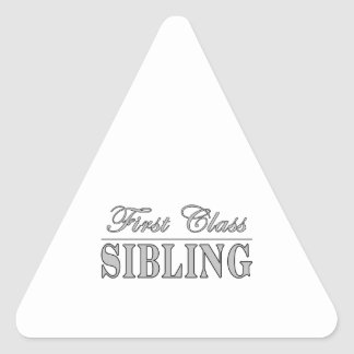 Siblings First Class Sibling Triangle Sticker