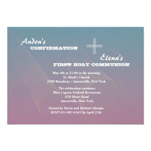 Siblings Religious Invitation