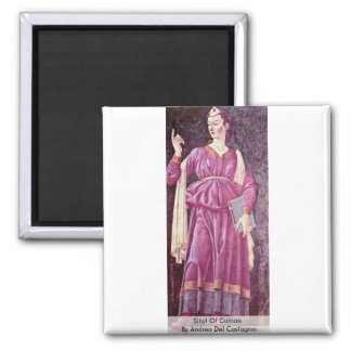 Sibyl Of Cumae By Andrea Del Castagno Refrigerator Magnets