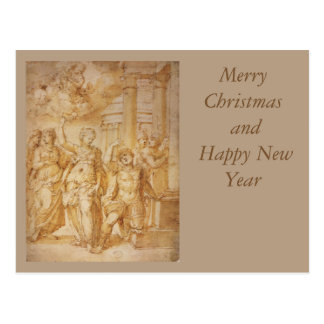 Sibylle announcing the Birth of the Christ Child b Postcard