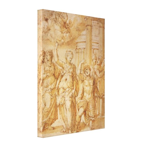 Sibylle anuncia el nacimiento de Cristo a Augustus Lona Estirada Galerias