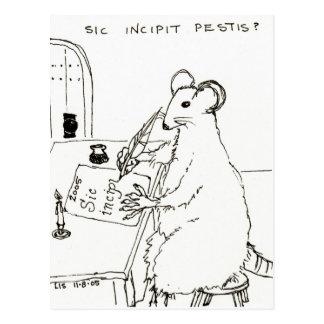 Sic Incipit Pestis postcard