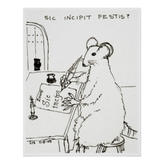 Sic Incipit Pestis print