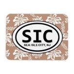SIC Sea Isle City NJ Brown Magnet