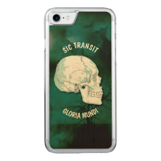 Sic Transit Gloria Mundi Vintage Turquoise Skull Carved iPhone 7 Case
