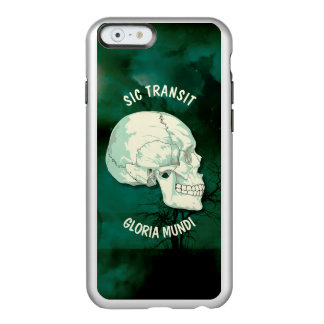 Sic Transit Gloria Mundi Vintage Turquoise Skull Incipio Feather Shine iPhone 6 Case