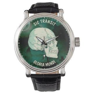 Sic Transit Gloria Mundi Vintage Turquoise Skull Wrist Watch