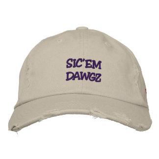 SIC'EM DAWGZ EMBROIDERED BASEBALL CAP