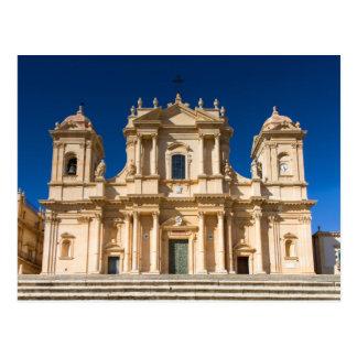 Sicilia - catedral de la postal de Noto