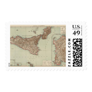 Sicilia, Cerdeña Timbres Postales