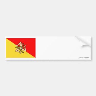 Sicilia flag bumper sticker