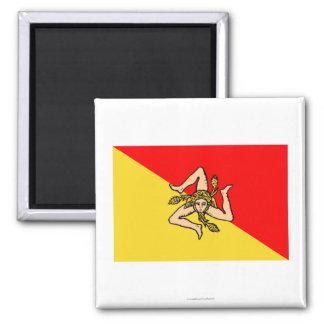 Sicilia flag magnet