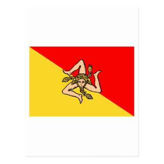 Sicilia flag postcard