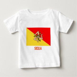 Sicilia flag with name tshirts