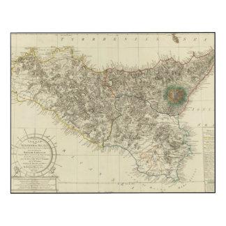 Sicilia, Italia Impresión En Madera