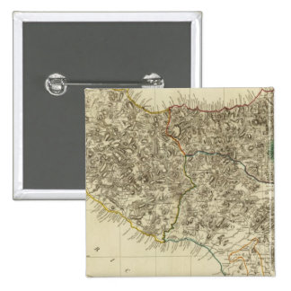 Sicilia, Italia Pin Cuadrada 5 Cm