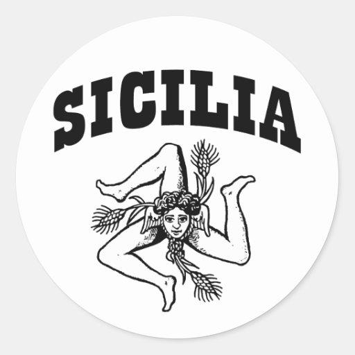 Sicilia Pegatinas Redondas