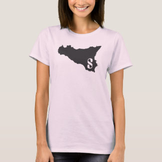 Sicilia pink and black T-Shirt