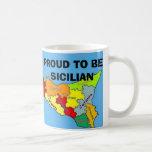 Sicilia, siciliano orgulloso taza de café