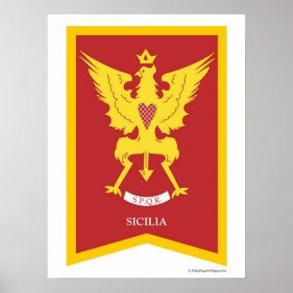Sicilia Sicily Italy region Poster