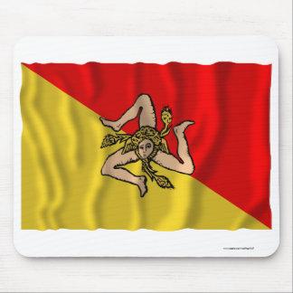 Sicilia waving flag mousepad