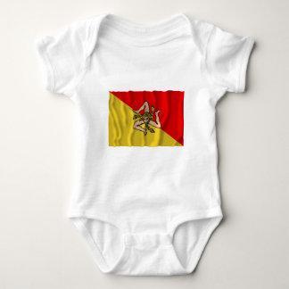 Sicilia waving flag tee shirt